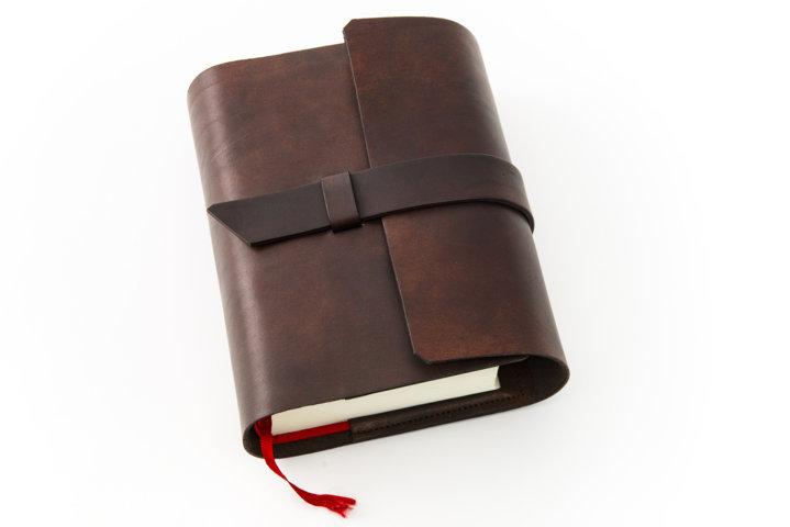 Porta Bibbia in Pelle Marrone