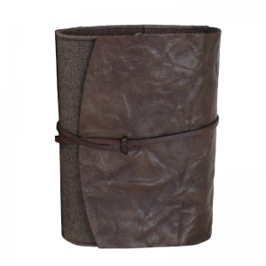 jute and leather bible holder