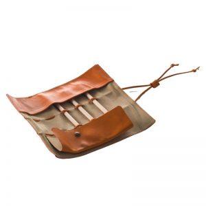 open - Leather pen case