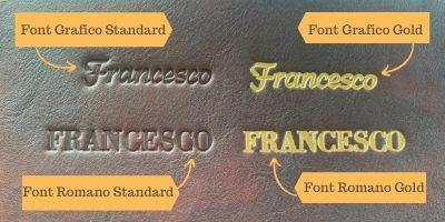 Esempi di font per incisioni