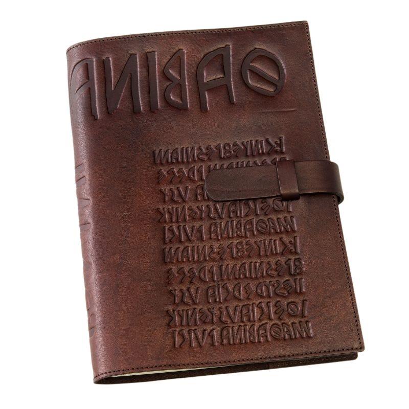 brown  leather diary  iku