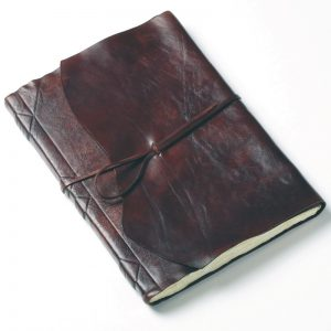 leather guest book