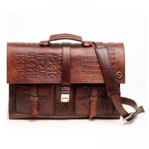 letaher briefcase engraved
