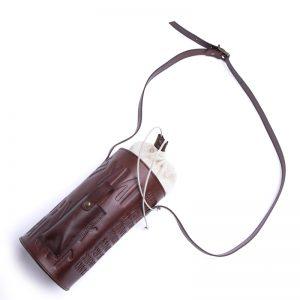 Round Leather Bottle holder - Iku