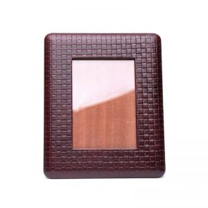 woven leather photo frame